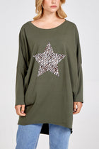 'Kitty' Leopard Print Star Batwing Top