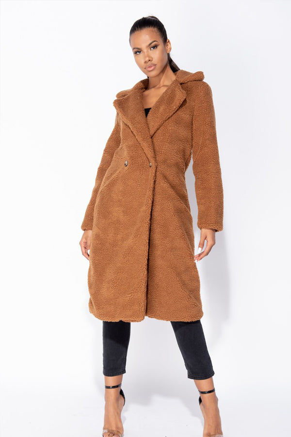 'Sunday' Longline Teddy Bear Coat