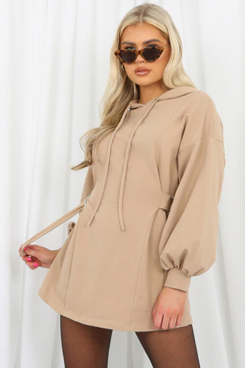 'Amaya' Side Buckle Sweatshirt Dress
