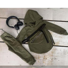 Boys Trendy 3pc Khaki Tracksuit - Personalisation Option