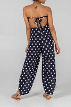 'Juliette' Navy Polka Dot Multiway Trousers/Jumpsuit
