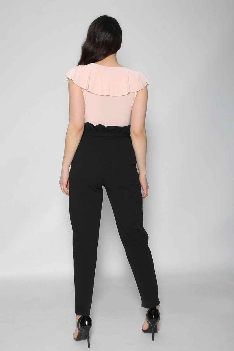 'Millie' Black High Waisted Cigarette Trousers
