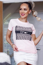 Pink D'or Print Fashion T-Shirt