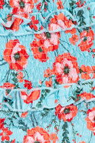 'Polly' Floral Shirring Detail Skirt