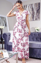 'Lorna' Floral Chiffon Maxi Dress