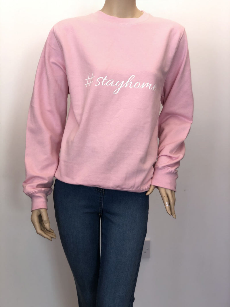 Stay Home Oversized Baby Pink Sweater
