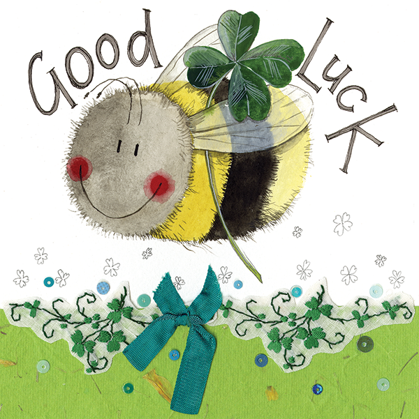 Alex Clark | Bee Good Luck Card