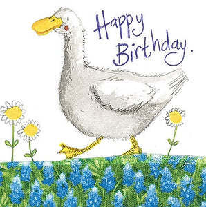 Duck and Daisies Little Sparkle Card