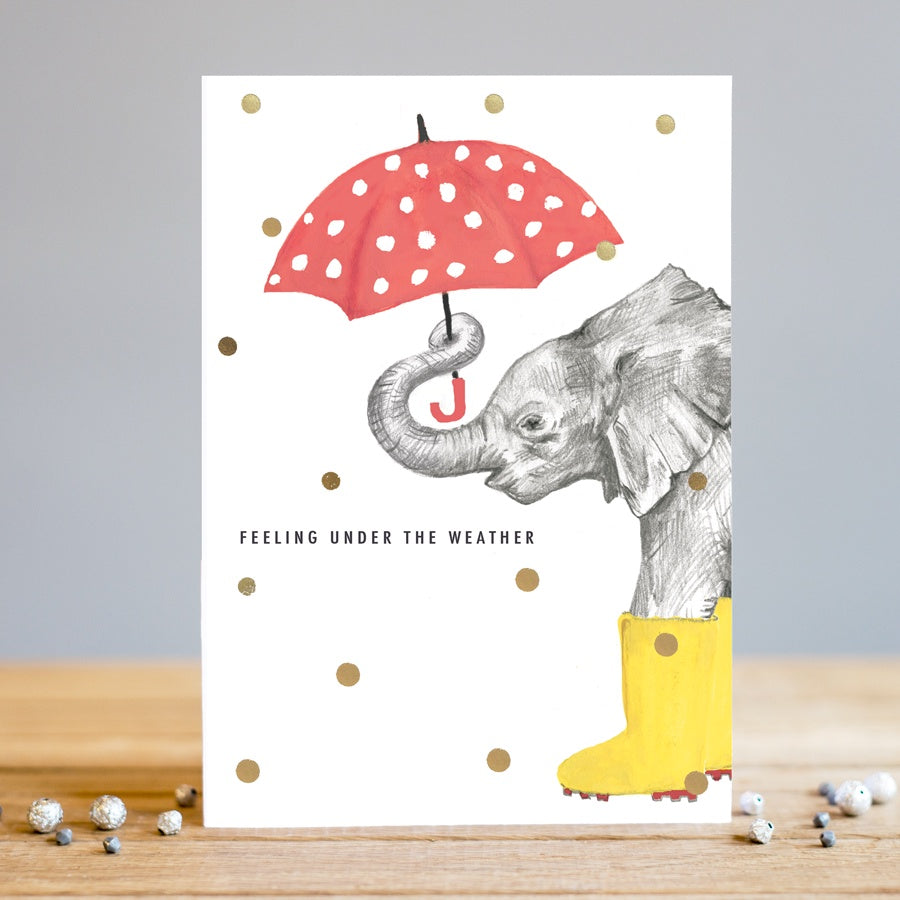 Louise Tiler | Under the Weather | Elephant | Greetings Card