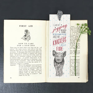 East of India | Animal Bookmark | Pig