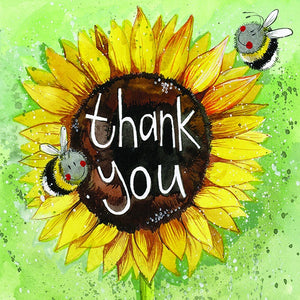 Alex Clark | Thank You Sunflower Card