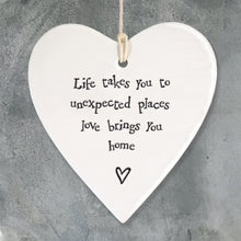 Load image into Gallery viewer, East of India | Porcelain Round Heart | Life Takes You