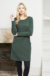Lily & Me | Bevington Dress Plain Knit | Spruce Green