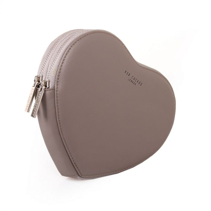 Red Cuckoo London | Heart Pouch | Grey