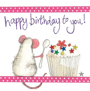 Alex Clark | Mouse & Spoon Birthday Card