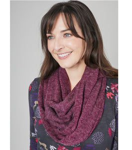 Lily & Me | Snood Plain Acrylic Knit | Purple