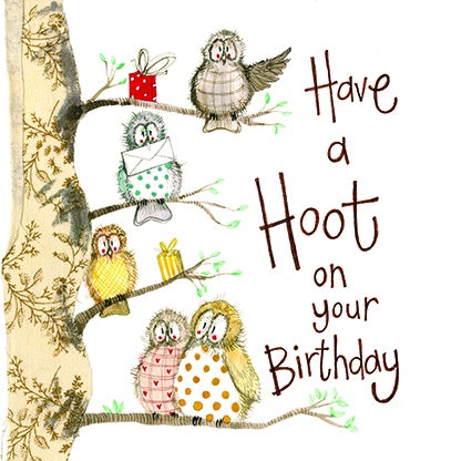 Alex Clark | Hooters Owl Birthday | Greetings Card