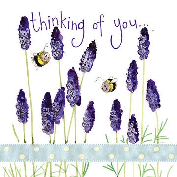 Lavender Thinking of You Card