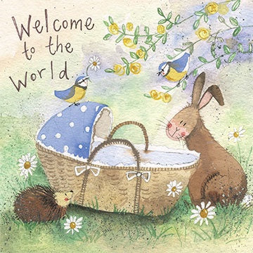 Alex Clark | Welcome To The World Bunny New Baby Card