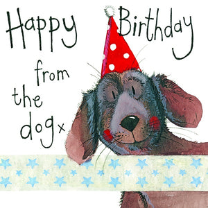 Alex Clark | Spotty Hat Dog Birthday Card