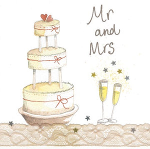 Alex Clark | Mr and Mrs | Wedding | Sparkle Greetings Card