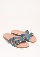 Load image into Gallery viewer, Brakeburn | Blue Multi Strap Sandals
