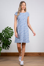 Load image into Gallery viewer, Lily & Me | Harbourside Dress | Etched Circle | Cornish Blue