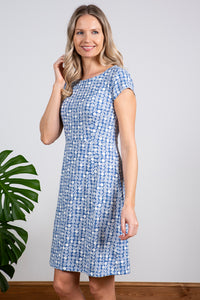 Lily & Me | Harbourside Dress | Etched Circle | Cornish Blue
