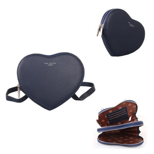 Red Cuckoo London | Heart Pouch | Navy