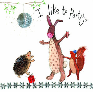 Alex Clark | Party Time Woodlands Animal Card