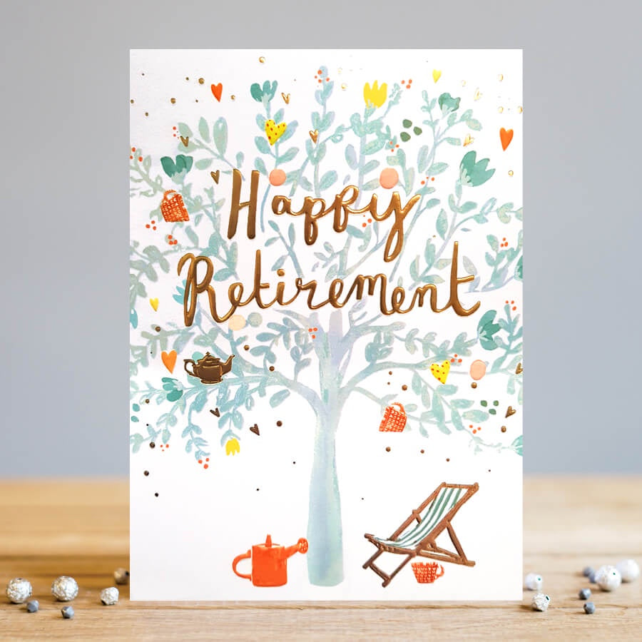 Louise Tiler | Happy Retirement | Greetings Card