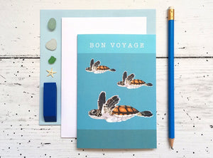 Arch & Ivy | Greetings Card | Sea Turtle Bon Voyage