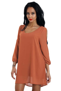 Urban Mist | Cold Shoulder Chiffon Swing Top