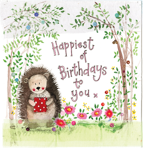 Alex Clark | Hedgehog Birthday | Greetings Card