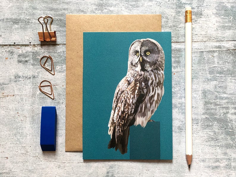 Arch & Ivy | Greetings Card | Great Grey Owl
