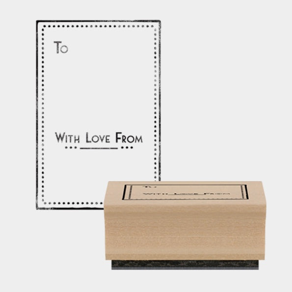 East of India | Rubber Stamp | To With Love From