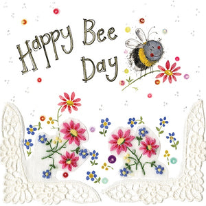 Bee Day Birthday Card