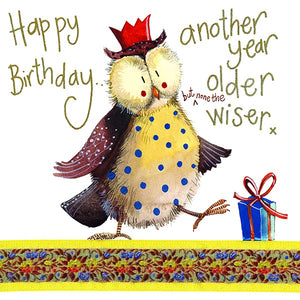 None The Wiser Birthday Card