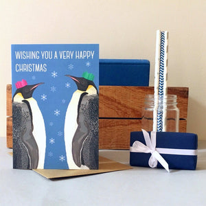 Arch & Ivy | Greetings Card | Penguins Wishing You A Very Happy Christmas