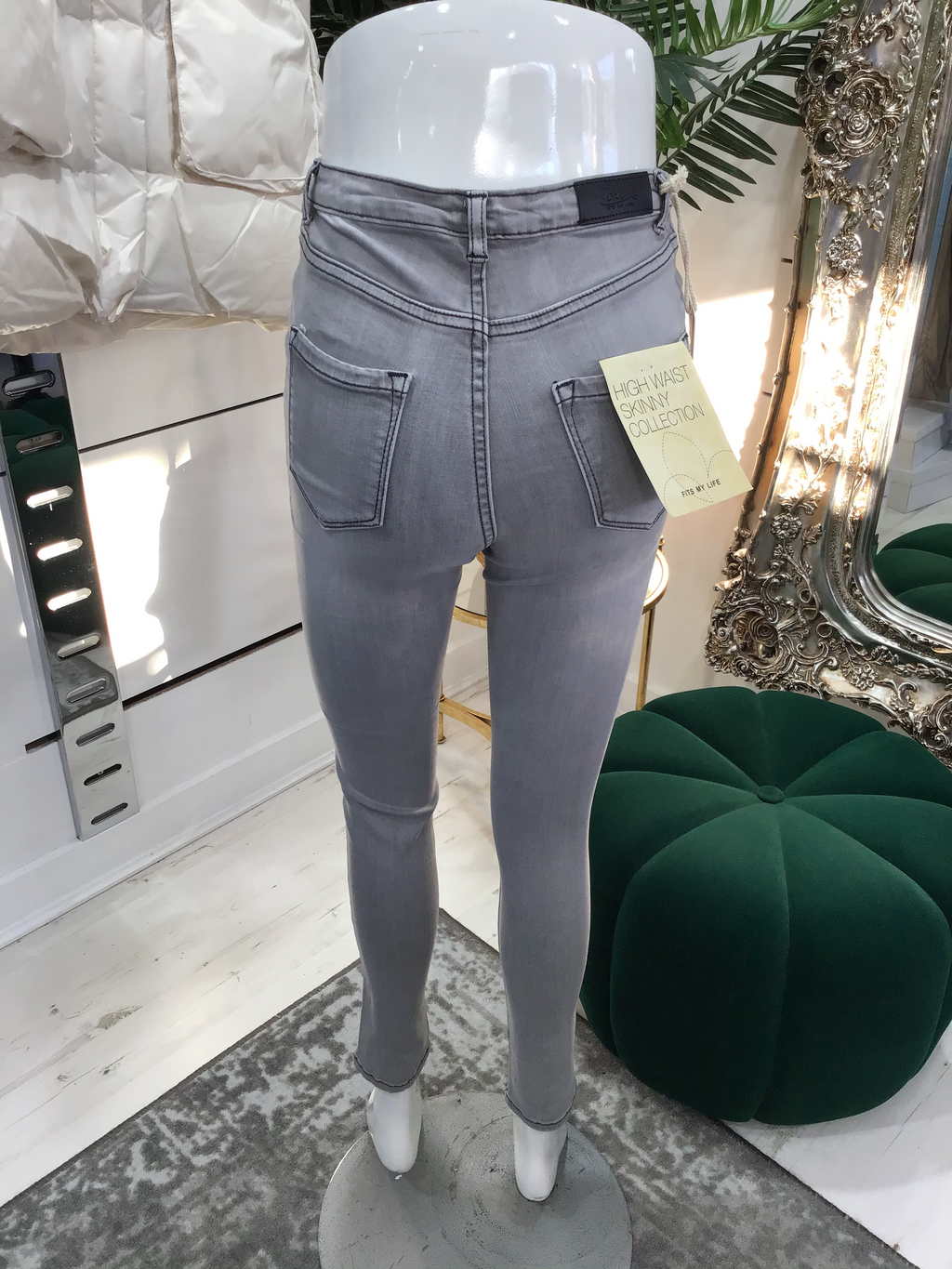Toxik Jeans - High Waist - Skinny - Grey Stitch - Pure Ladies Boutique
