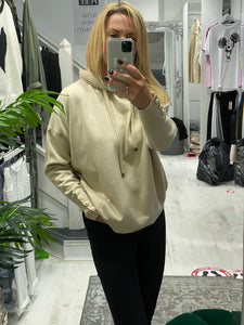 Cassie Camel light knit Hoodie - Pure Ladies Boutique