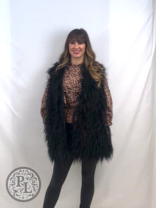 Shaggy Gilet with Pockets - Pure Ladies Boutique