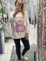 Load image into Gallery viewer, Diamanté Designer Double Bear Top. - Pure Ladies Boutique