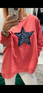 Long Sleeved Frill Hem Star Top - Pure Ladies Boutique