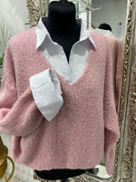 Load image into Gallery viewer, V Neck Fluffy Jumper - 4 colours - Pure Ladies Boutique