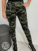 Load image into Gallery viewer, Camo leggings- Dark Green - Pure Ladies Boutique