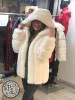 Load image into Gallery viewer, Faux Fur Hooded Coat - NOW HALF PRICE - Pure Ladies Boutique