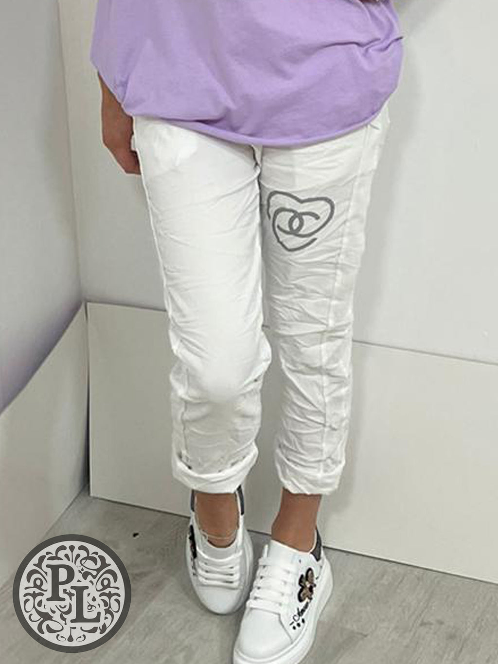 Magic pants with heart - one size - 2 colours - Pure Ladies Boutique