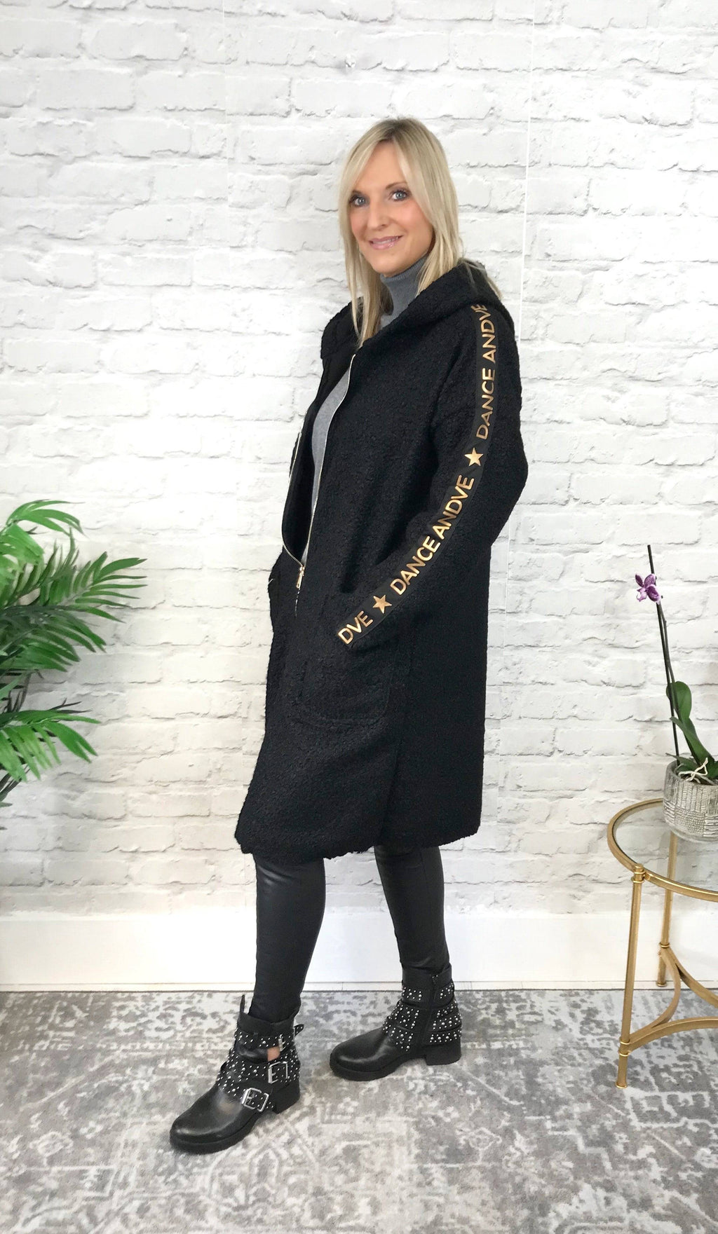 Black 'Dance' Coat - Pure Ladies Boutique