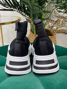 Black knit high tops - Pure Ladies Boutique